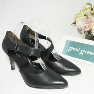 🆕Paul Green Mary Jane Pointed Toe Pumps Black